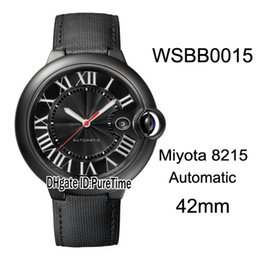 Chinese  New Drive WSBB0015 PVD Steel Black Dial White Roma Mark Japan Miyota 8215 Automatic Mens Watch Black Nylon Leather Sports Watches CAR-B32a1 manufacturers