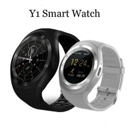 $enCountryForm.capitalKeyWord NZ - Y1 Bluetooth Smart Watch Wristband Bracelet with SIM Card Slot for android cellphones IPS Round Water Resistant with Retail Package