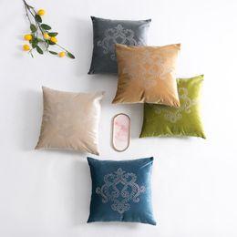 Discount decorative european pillow covers - Classical European Flower Embroidery Velvet Cushion Cover Pillow Cover Pillowcase Home Decorative Sofa Throw Pillows Liv