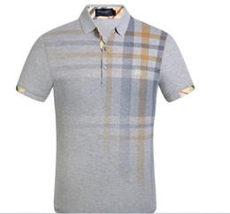 Venta al por mayor de Caliente venta G2Y moda burburry hombres casual manga corta nueva solapa camiseta hombres visten camisa de polo manga corta marca sudaderas