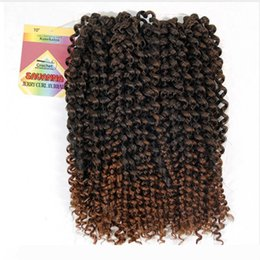 brazilian twist hair UK - Havana Twist Hair Crochet braids Synthetic Ombre Braiding Hair Extensions Brazilian Jerry Curly Bundles Kinky Curly Hair Bulk