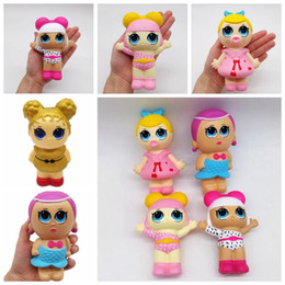 Girl simulation online shopping - 8 Styles Slow Rising Doll Squishy Slow Rebound Squishy Simulation Girl Doll Decompression Toy Novelty Items CCA10859