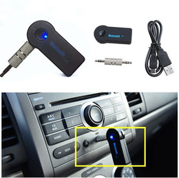 tuner mic Canada - Car Bluetooth Mp3 Player 3.5mm Streaming Car A2dp Wireless Bluetooth Car Kit Aux Audio Music Receiver Adapter Handsfree With Mic For Phone