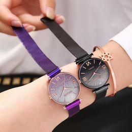 $enCountryForm.capitalKeyWord Australia - 2019 Magnet Magnetic Women Watches Force Unique Creative Color Dial Women Luxury Quartz Watches Ladies Dress Wristwatches Watch