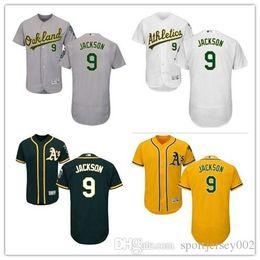 841170dc142f Oakland 2019 Men s Women s Youth Athletics 9 Reggie Jackson Majestic Black  Alternate Authentic Flex Base Custom Baseball Jerseys