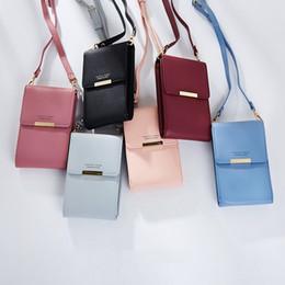 girls cell phone cases 2019 - Women Wallet Card Slot Phone Case Lady Girls Small Shoulder Bag Handbag Women Leather Wallet LJJS15 cheap girls cell pho