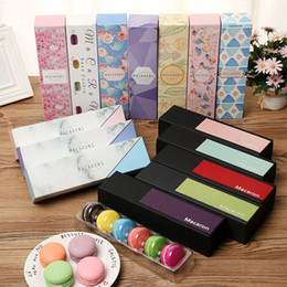 Fda Cupcake Packaging Australia - 6 Cups Paper Macaron Box 15 Designs Chocolate Biscuit Box Drawer Type Cake Cookie Box Baking Packaging For Gifts 10 Pieces ePacket