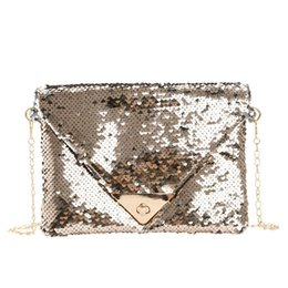 criss cross chain Australia - Fashion Retro Solid Sequin Crossbody Bags for Women Messenger Bags Chain Strap Shoulder Bag Lady Small Flap criss-cross Bag