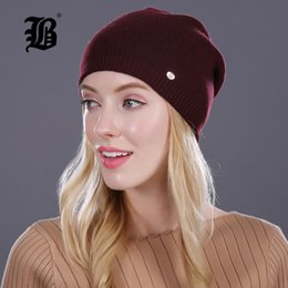 Adult Beanies Hats Australia - Winter Hat For Women Girl S Casual Skullies Beanies Wool Hat Keep Warm Knitted Beanies Cap With Lining 2017 Female Good Quality Casual Caps
