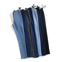 $enCountryForm.capitalKeyWord Australia - Autumn High Waist Jeans Woman Bound Feet Pants Elastic Force Thin Pencil Pants Trousers
