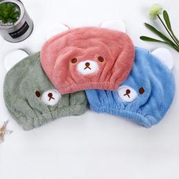 $enCountryForm.capitalKeyWord Australia - Cartoon Cute Hair Dry Hat Towel Quick Dry Shower Cap Strong Absorbing Drying Ultra Soft Cartoon Children Droog Haar Cap