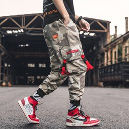 camo sweatpants UK - Male Cotton Camouflage 2021 Mens 5XL Hip Streetwear Overalls Cargo Pants Sweatpants Liketkit Hop Trousers Fashion Joggers Camo Jvmtl
