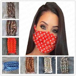 venda por atacado 2020 Máscara protectora da Moda carta Imprimir Máscaras Boca Mulheres Meninas Ciclismo respirável Boca-de mufla Máscaras Adulto reutilizável lavável E41102