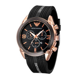 Watches link online shopping - New AMN masculino men s watch luxury fashion black rubber band with calendar small ring pin buckle master diving series quartz watch