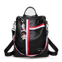 $enCountryForm.capitalKeyWord Australia - 2019 women's new leather backpack Japan and South Korea leisure travel bag large capacity school bag