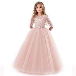 $enCountryForm.capitalKeyWord Australia - 3-15y Kids Dresses For Girls Elegant Lace Princess Dress Communion Prom Girl Gown Kids Girl Party Dress Toddler Clothes Vestidos J190611