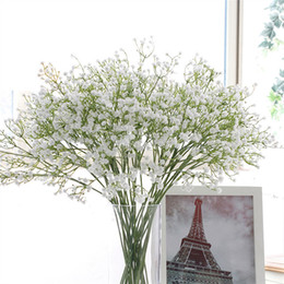 $enCountryForm.capitalKeyWord UK - 58cm Rustic Artificial Baby Breath Flower PU Wedding Flower Decor for Home Party Christmas Gift Gypsophila 21 Pcs