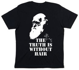 "$enCountryForm.capitalKeyWord NZ - Funny Adult T-Shirt ""The Truth is without Hair"" Charles Darwin and X-Files size discout hot new"