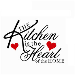$enCountryForm.capitalKeyWord UK - Kitchen is Heart of the Home Quote Wall Decal Removable Wall Sticker