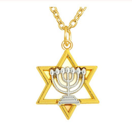 $enCountryForm.capitalKeyWord UK - DN014 Gold Color Metal Link Chain Stars Pendant Necklace Jewelry Two Tones Rhodium Religious Charm Necklaces for woman and men