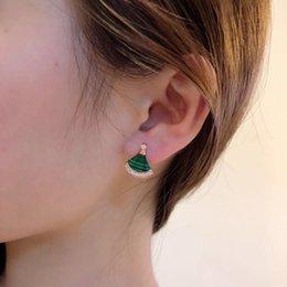 seiko stainless steel 2019 - Women's jewelry 2019 fashion classic hot on the new elegant simple Seiko natural malachite earrings cheap seiko sta