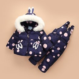 baby thermal sets Australia - Winter Suit for Children New Baby Girl Duck Down Jacket and Pants 2pcs Warm Clothing Set Thermal Kids Clothes Snow Wear
