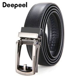 $enCountryForm.capitalKeyWord Australia - Deepeel 3.2X120cm Genuine Leather belt Casual Men Belt Formal Simple Second Layer Cowhide Belt Automatic Buckle Clothing accessories