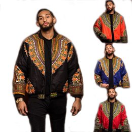 cool sweatshirt jackets Australia - Adult Unisex African Dashiki Print Coat Zip Up Non-Hooded Sweatshirt Jacket Hippy Casual Thin Light Cool Outwear For Men & Women