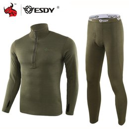 running stretch tight Australia - ESDY Motorcycle Thermal Underwear Set Quick Dry Stretch Men Thermo Underwear Running T-shirt Set Tight Long Tops & Pants M-3XL