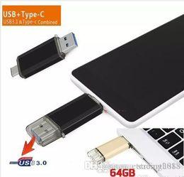 Flash Drive Mix Australia - Design USB 3.0 OTG Dual Micro USB Flash Pen Thumb Drive Memory Stick for Phone PC mixed color