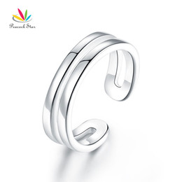 $enCountryForm.capitalKeyWord Australia - Kids Girls Solid 925 Sterling Silver Ring Band Children Jewelry Adjustable CFR8295 Dropshipping Service Available