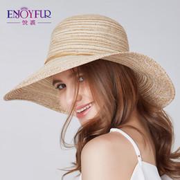 $enCountryForm.capitalKeyWord Australia - wholesale Summer oversized brim sun hat for Women straw weaver sunscreen female caps 2018 new arrival elegant striped sun hat