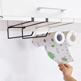 $enCountryForm.capitalKeyWord Australia - Iron Kitchen Tissue Holder Hanging Bathroom Toilet Roll Paper Holder Towel Rack Towel Shelf Kitchen Cabinet Door Hook