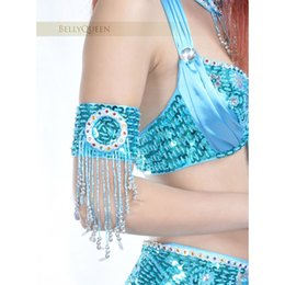 Arm tAssels online shopping - one piece arm band beads tassels sequins bracelet Belly Dance Costumes Accessories for dance handmade colors SF394