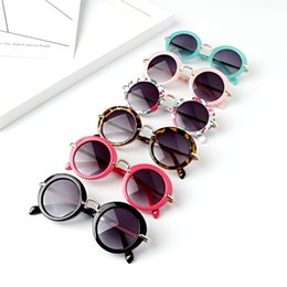 Kids Summer Sunglasses UK - Sunglasses for Kids Round Vintage Sun Glasses Boys Girls Designer Adumbral Fashion Children Summer Beach Sunblock Accessories