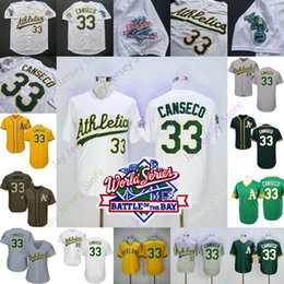 BreathaBle athletic shorts online shopping - Jose Canseco Jersey Athletics WS World Series Oakland Men Women Youth Cooperstown White Yellow Green Men Women Youth