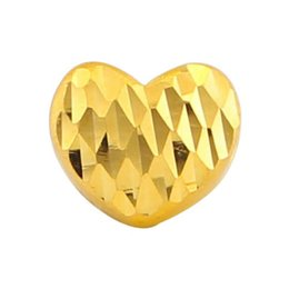 yellow gold lockets UK - 24K Yellow Gold Pendant Real Gold Carved Heart Pendant Women 999 Yellow P6212