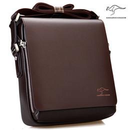 men leather shoulder bag kangaroo 2019 - New Arrived Brand Kangaroo men's messenger bag Vintage leather shoulder bag Handsome crossbody bag Free Shipping che
