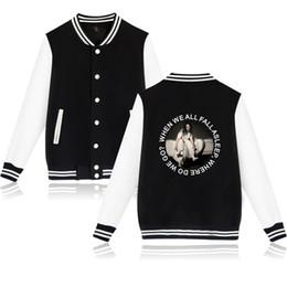 Girls Baseball Uniforms NZ - New Baseball uniform classic style billie eilish Men Women Coats high quality Sweatshirt Student Boy Girl Baseball Jacket 4XL