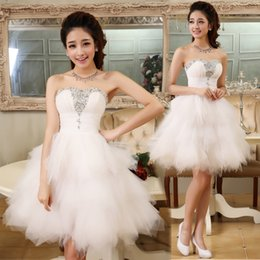 $enCountryForm.capitalKeyWord Australia - Mini Sexy Party White Cocktail Dresses Lace up Knee Length Formal Prom Short Dress Growns Plus Size prom gowns Cocktail dress