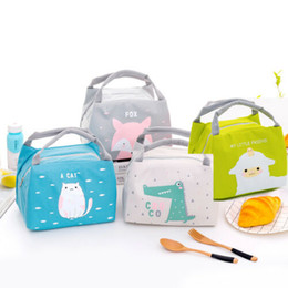 canvas floral lunch bag Australia - Thermal Insulated Lunch Box Floral Bag Tote Bento Pouch Lunch Container Portable Bags