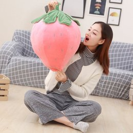 Pink Girl Toys Australia - 20170723 New Goods Hot Sale Pink Strawberry Pillow Doll Plush Toys For Girls Gift Of Free Shipping