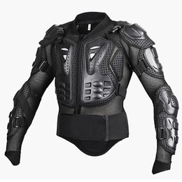 Discount jacket full body armor New Men's Motorcycle Armor Jacket MOTO Full Body Spine Chest Protection Racing Gear Jackets Motocross Protective Tu