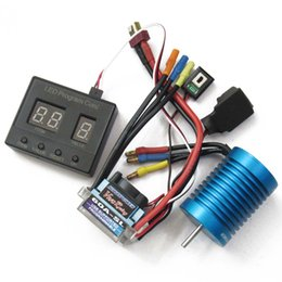 speed controller esc for brushless UK - HP 60A ESC Speed Controller + 3560 Motor 540 + Program Card Brushless Combo for 1 10 1 12 RC Drift Racing Touring Sport Cars