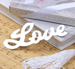"$enCountryForm.capitalKeyWord Australia - DHL Free shipping ""Words of Love"" Silver-Finish Bookmark with Elegant White-Silk Tassel Wedding favor and gift"