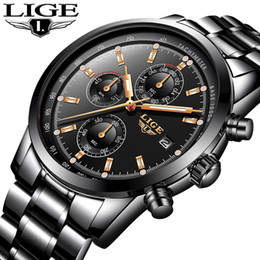 $enCountryForm.capitalKeyWord Australia - Lige Watch Men Fashion Sport Quartz Clock Mens Watches Top Brand Luxury Full Steel Business Waterproof Watch Relogio Masculino Y19052301
