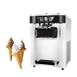 Cream Desks Australia - Low Price Small Capacity Mini Desk Top Commercial Home 24-30L R22 220v 50Hz 3 Flavor Soft Ice Cream Maker Machine
