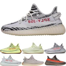 Опт Adidas yeezy supreme 350 350 V2 Мужчины Женщины Кроссовки Zebra Beluga 2.0 Черный Белый Kanye West Mens Дизайнер Спортивные Кроссовки Размер 36-45