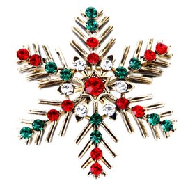 china shipping costume Australia - Classic Beautiful Christmas Snowflake Crystal Rhinestone Brooches Pin Female Femme Broche Costume Bijoux Accessory Gift 10pcs lot free ship