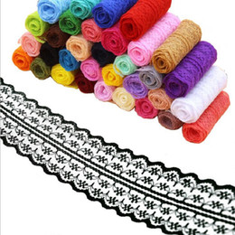 trims ribbons Australia - Wide 4.5cm Soft polyester Lace Trim Ribbon Apparel Sewing Fabric DIY craft Garment Decoration Wedding birthday party Scrapbook necklace